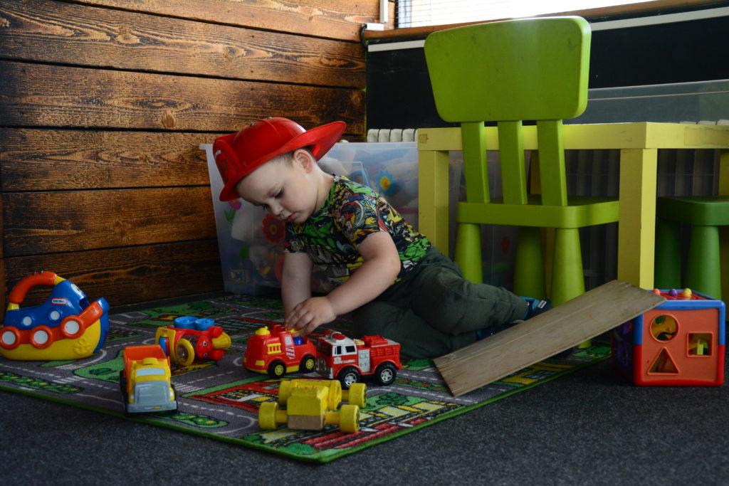 Bruno v detskom kútiku v Pivovare U Ábela