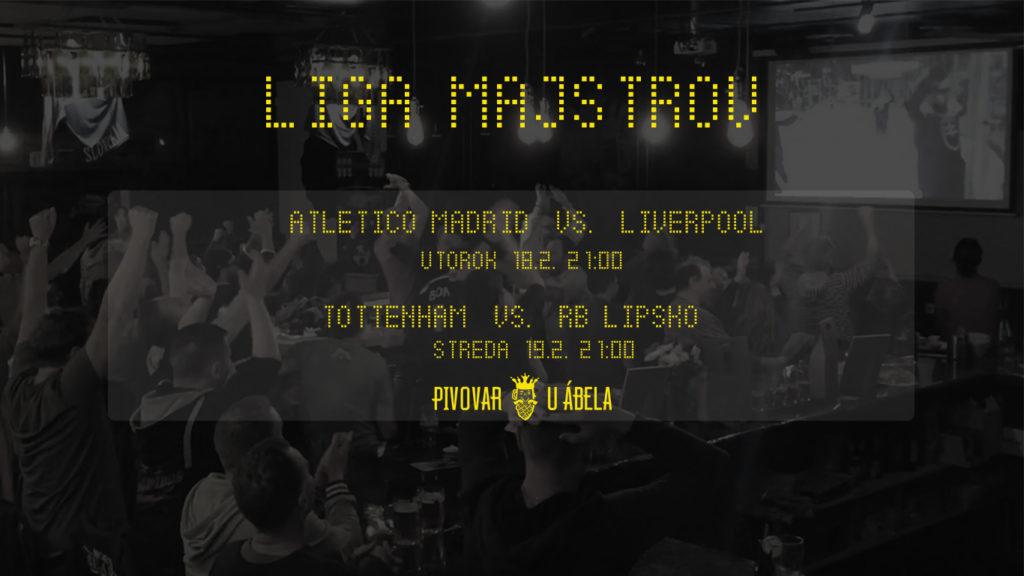 Liga Majstrov live Pivovar U Ábela Champions league sport pub live sport pub